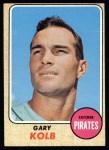 1968 Topps #407  Gary Kolb  Front Thumbnail