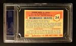 1955 Johnston Cookies #24  Charlie White  Back Thumbnail