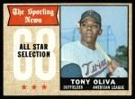 1968 Topps #371   -  Tony Oliva All-Star Front Thumbnail