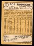 1968 Topps #433  Bob Rodgers  Back Thumbnail