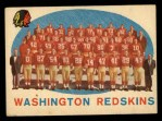 1959 Topps #91   Redskins Team Checklist Front Thumbnail