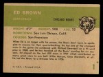 1961 Fleer #1  Ed Brown  Back Thumbnail