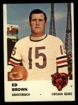 1961 Fleer #1  Ed Brown  Front Thumbnail