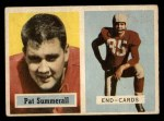 1957 Topps #14  Pat Summerall  Front Thumbnail
