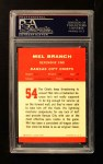 1963 Fleer #54  Mel Branch  Back Thumbnail
