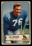 1954 Bowman #85  Lou Creekmur  Front Thumbnail