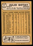 1968 Topps #41  Julio Gotay  Back Thumbnail
