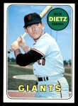 1969 Topps #293  Dick Dietz  Front Thumbnail