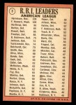 1969 Topps #3   -  Ken Harrelson / Frank Howard / Jim Northrup AL RBI Leaders   Back Thumbnail