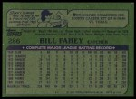 1982 Topps #286  Bill Fahey  Back Thumbnail