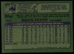 1982 Topps #302  Doug Flynn  Back Thumbnail