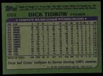 1982 Topps #699  Dick Tidrow  Back Thumbnail