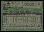 1982 Topps #723  Junior Kennedy  Back Thumbnail
