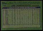 1982 Topps #774  Jay Johnstone  Back Thumbnail