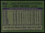 1982 Topps #638  John Milner  Back Thumbnail