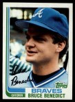 1982 Topps #424  Bruce Benedict  Front Thumbnail