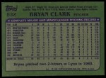1982 Topps #632  Bryan Clark  Back Thumbnail