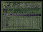 1982 Topps #568  Joe Pettini  Back Thumbnail