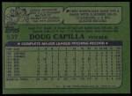 1982 Topps #537  Doug Capilla  Back Thumbnail