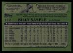 1982 Topps #112  Billy Sample  Back Thumbnail