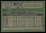 1982 Topps #327  Joe Nolan  Back Thumbnail