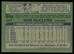 1982 Topps #487  Bob McClure  Back Thumbnail