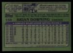 1982 Topps #158  Brian Biittner  Back Thumbnail