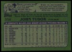 1982 Topps #558  John Tudor  Back Thumbnail