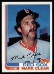 1982 Topps #421  Mark Clear  Front Thumbnail