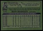 1982 Topps #234  Ron Hodges  Back Thumbnail