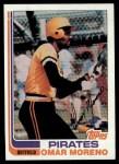 1982 Topps #395  Omar Moreno  Front Thumbnail