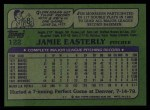 1982 Topps #122  Jamie Easterly  Back Thumbnail