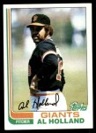1982 Topps #406  Al Holland  Front Thumbnail