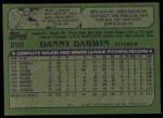1982 Topps #298  Danny Darwin  Back Thumbnail