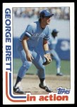 1982 Topps #201   -  George Brett In Action Front Thumbnail