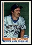 1982 Topps #517  Mark Brouhard  Front Thumbnail