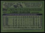1982 Topps #257  Larry Harlow  Back Thumbnail