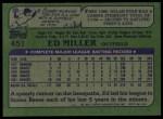 1982 Topps #451  Ed Miller  Back Thumbnail