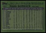 1982 Topps #707  Mark Bomback  Back Thumbnail