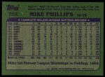 1982 Topps #762  Mike Phillips  Back Thumbnail