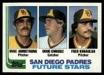 1982 Topps #731   -  Doug Gwosdz / Mike Armstrong / Fred Kuhaulua Padres Rookies Front Thumbnail