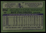 1982 Topps #88  Biff Pocoroba  Back Thumbnail