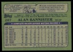 1982 Topps #287  Alan Bannister  Back Thumbnail