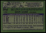 1982 Topps #199  Don Aase  Back Thumbnail