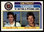 1982 Topps #666   -  Dan Petry / Steve Kemp Tigers Leaders Front Thumbnail