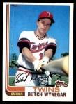 1982 Topps #222  Butch Wynegar  Front Thumbnail