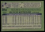 1982 Topps #222  Butch Wynegar  Back Thumbnail