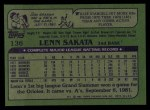 1982 Topps #136  Lenn Sakata  Back Thumbnail
