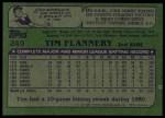 1982 Topps #249  Tim Flannery  Back Thumbnail