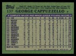 1982 Topps #137  George Cappuzzello  Back Thumbnail